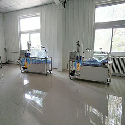 中小城镇饮用水处理实验装置、溶气气浮装置等教学实验设备安装现场